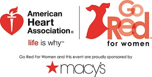 Dual Macy's and AHA logo