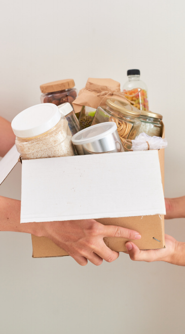 Box of Heart-Healthy food
